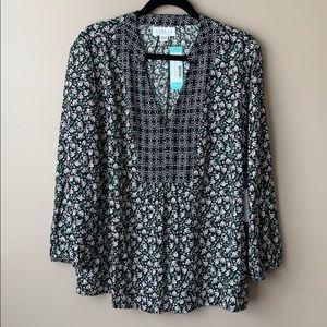 NWT Velvet by Graham and spencer blouse sz lg